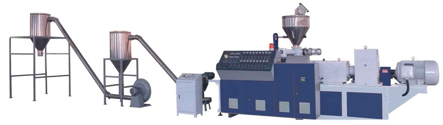 Wood Plastic and PVC Hot Cutting Granulation Line