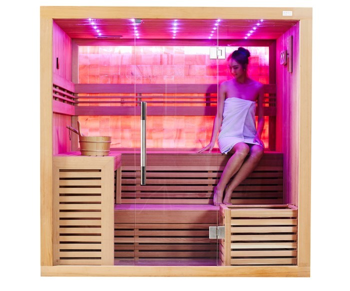 Dry Sauna with Canadian Cedar Wood for Family (M-6055)