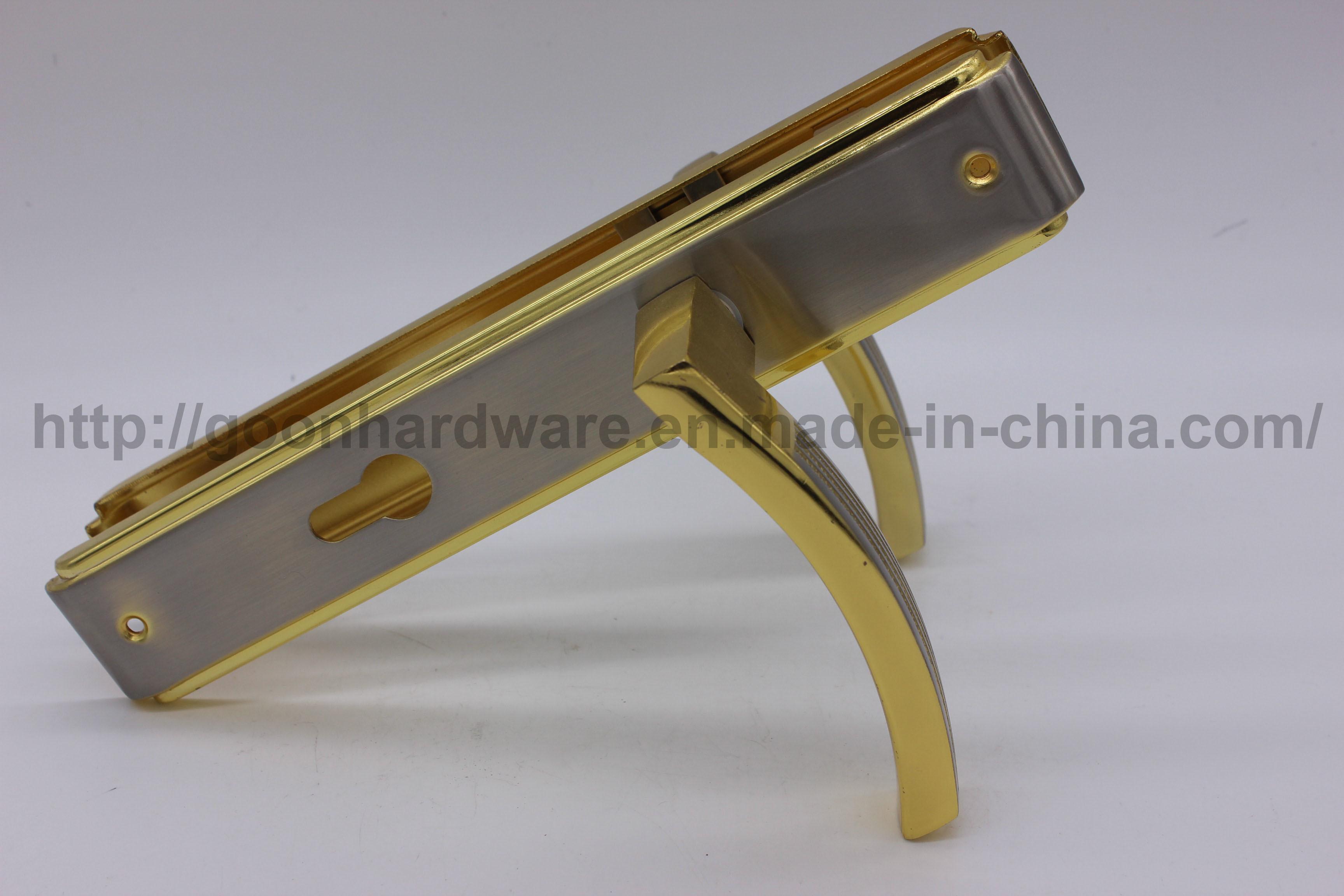 Aluminum Handle on Iron Plate 066