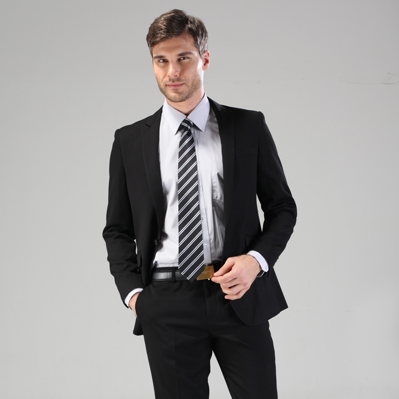 China Black Business Men Suit Uniform Photos & Pictures - Made-in
