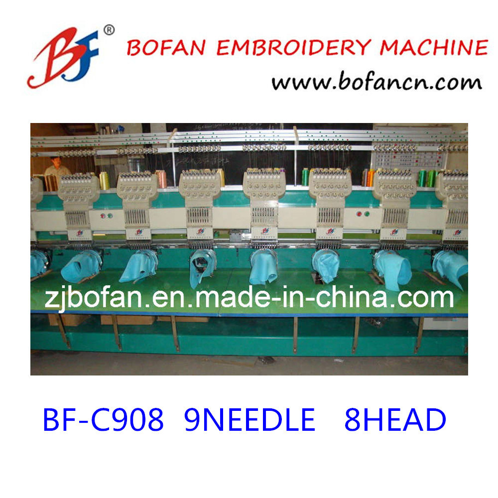 Commerical Computer 8heads Embroidery Machine for Cap T-Shirt Flat Embroidery