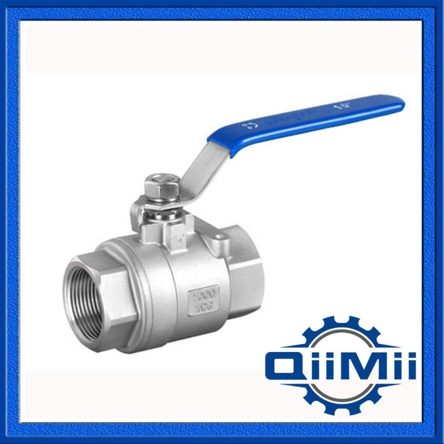 Sanitary Stainless Steel Industrial Two Pieces Ball Valve Female Thread
