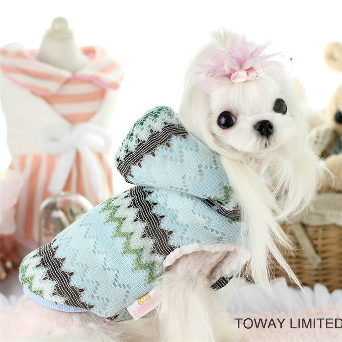 Fashion Lace Quality Cotton Dog Hoodie Coat Pet Jackets