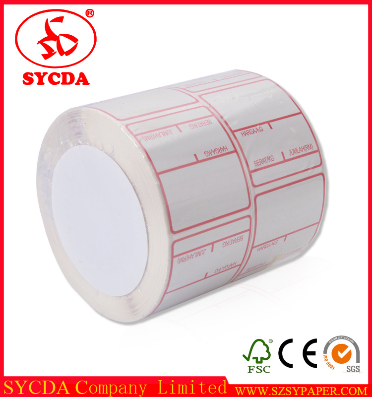 Customized Thermal Printed Paper Sticker Adhesive Label