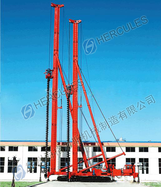 Hydraulic Crawler Auger Piling Rig Drilling Machine