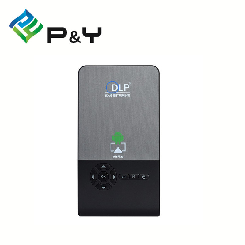 Mini Mobile DLP M6 Projector Android 4.4 Smart Bluetooth 4.0 Quad Core LED Lamp DLP Projector Full HD 1080P
