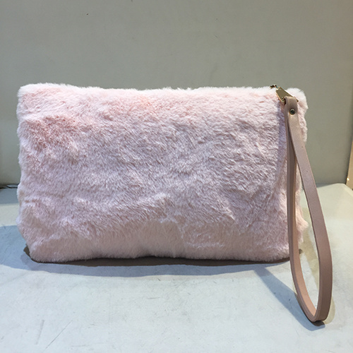 Fashion Lady Pretty Cute Faux Rabbit Fur Handbag Shoulder Messenger Bag Women Clutches Sy8030