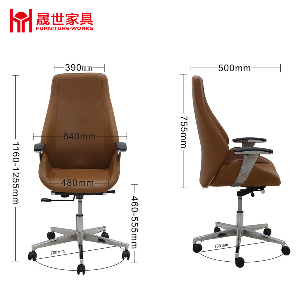 Luxury High Grade Leather Office Chair Manufacturer Swivel Computer Chair