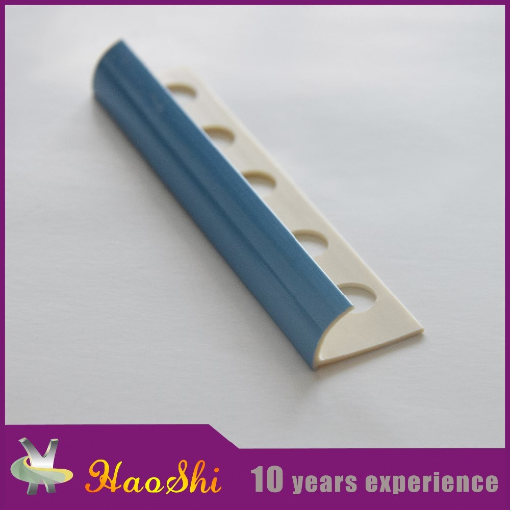 Colorful PVC Tile Trim Profile Bathroom Decoration