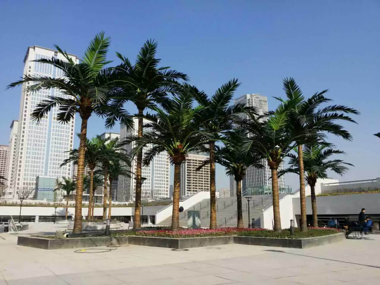 Hotel Decor Artificial Palm Tree Artificial Coconut Palm Outdoor Use
