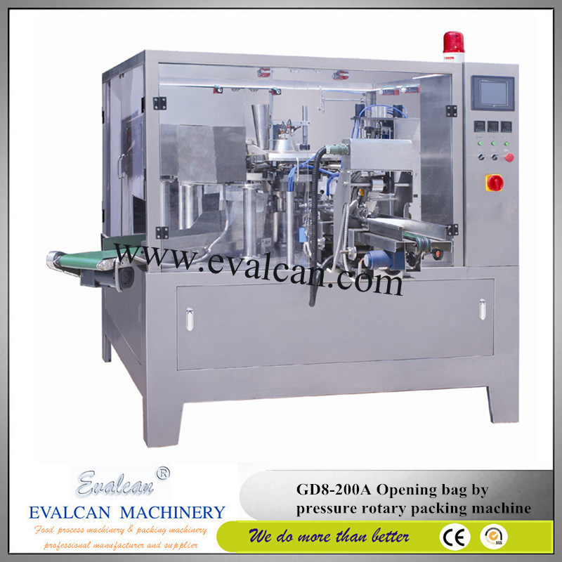 Automatic Wheatgrass Powder Rotary Packing Machine Price with Auger Filler