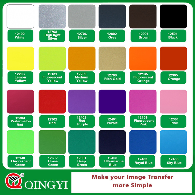 Qingyi Red PU Heat Transfer Vinyl