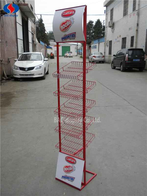 Universal Product Mesh Display Stand for Snack Foods