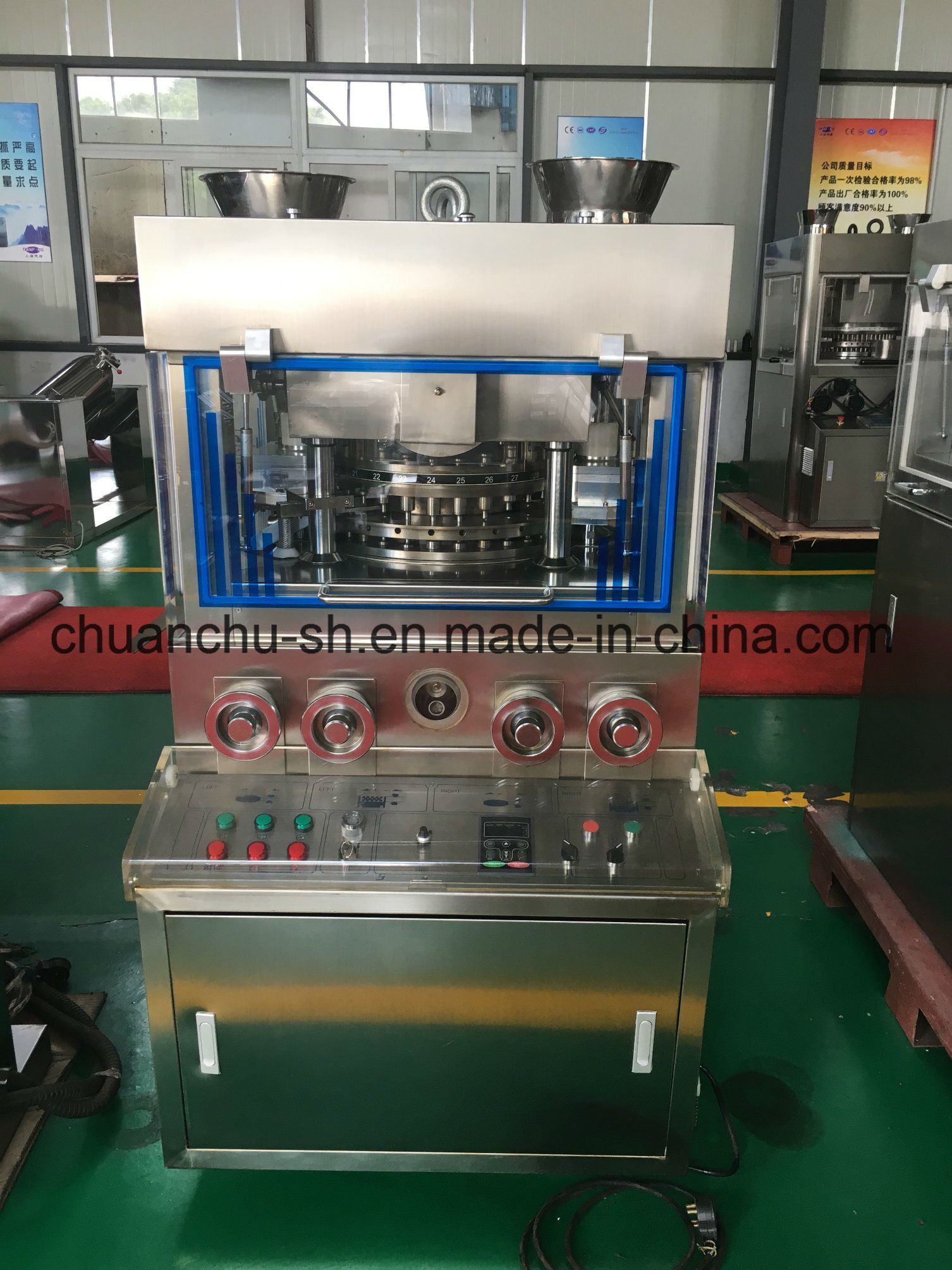 Rotary Tablet Press Machine Zpw29 / Zpw31 for Salt/Spiruline/Candy/Pill/Grain