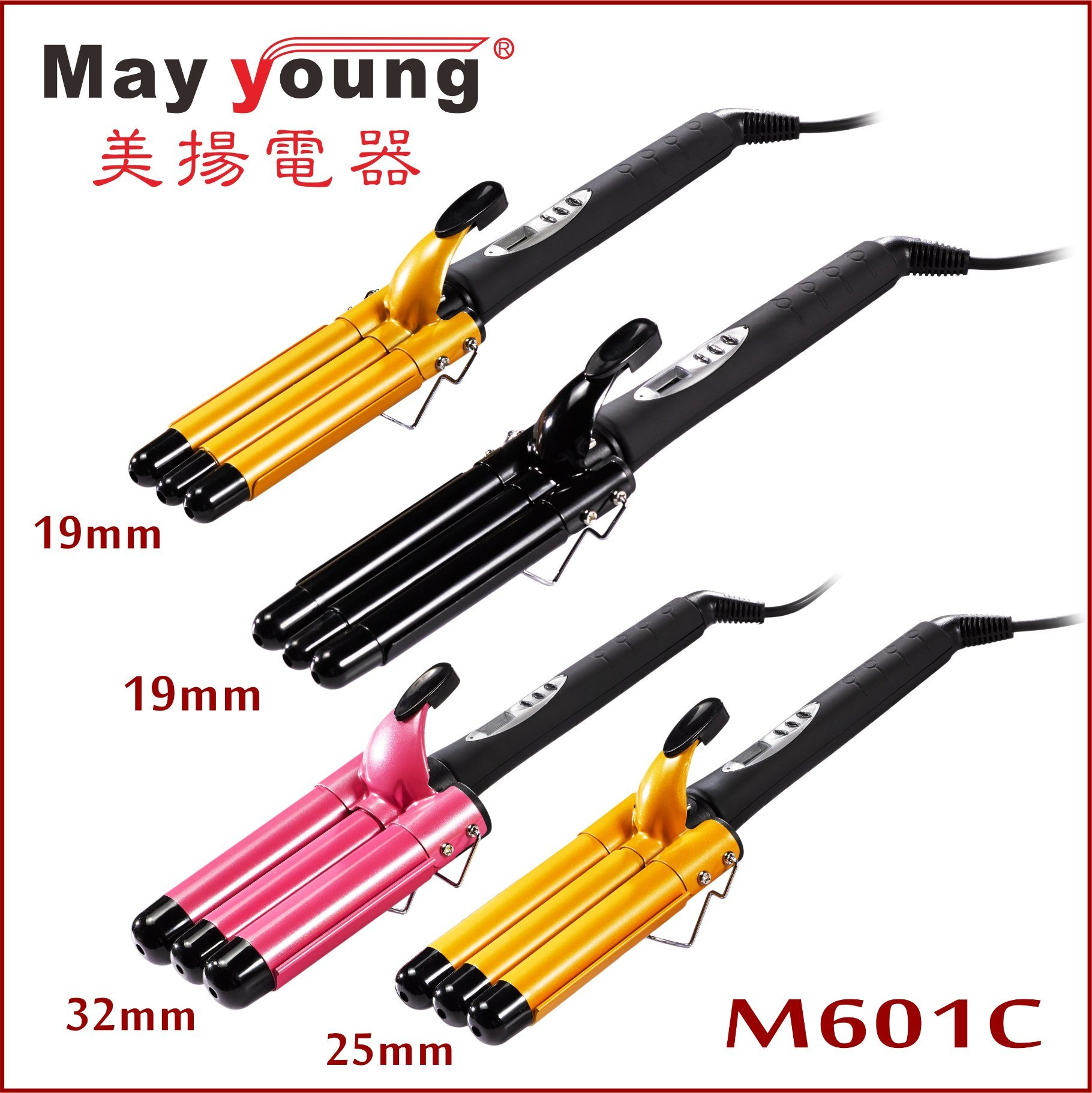 2017 New Products Adjustable 3 Barrel Waver Triple Barrel Hair Curling Iron Hair Curler