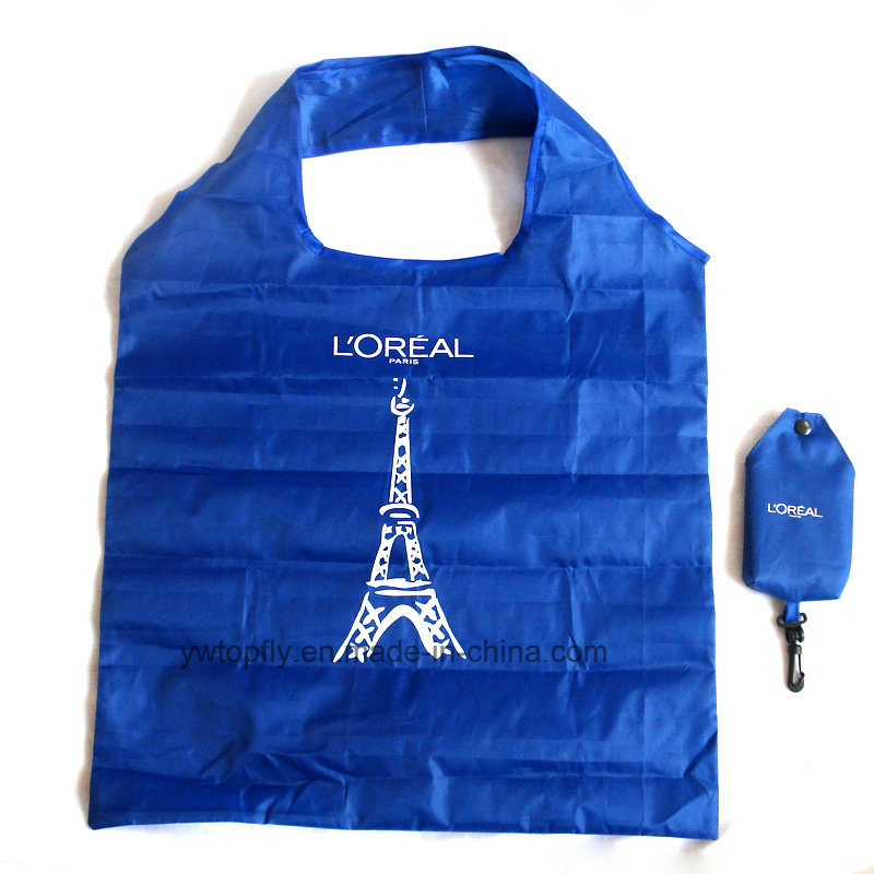 Foldable Recycled Polyester Groceries Tote Promotional Gift Shopping Bag