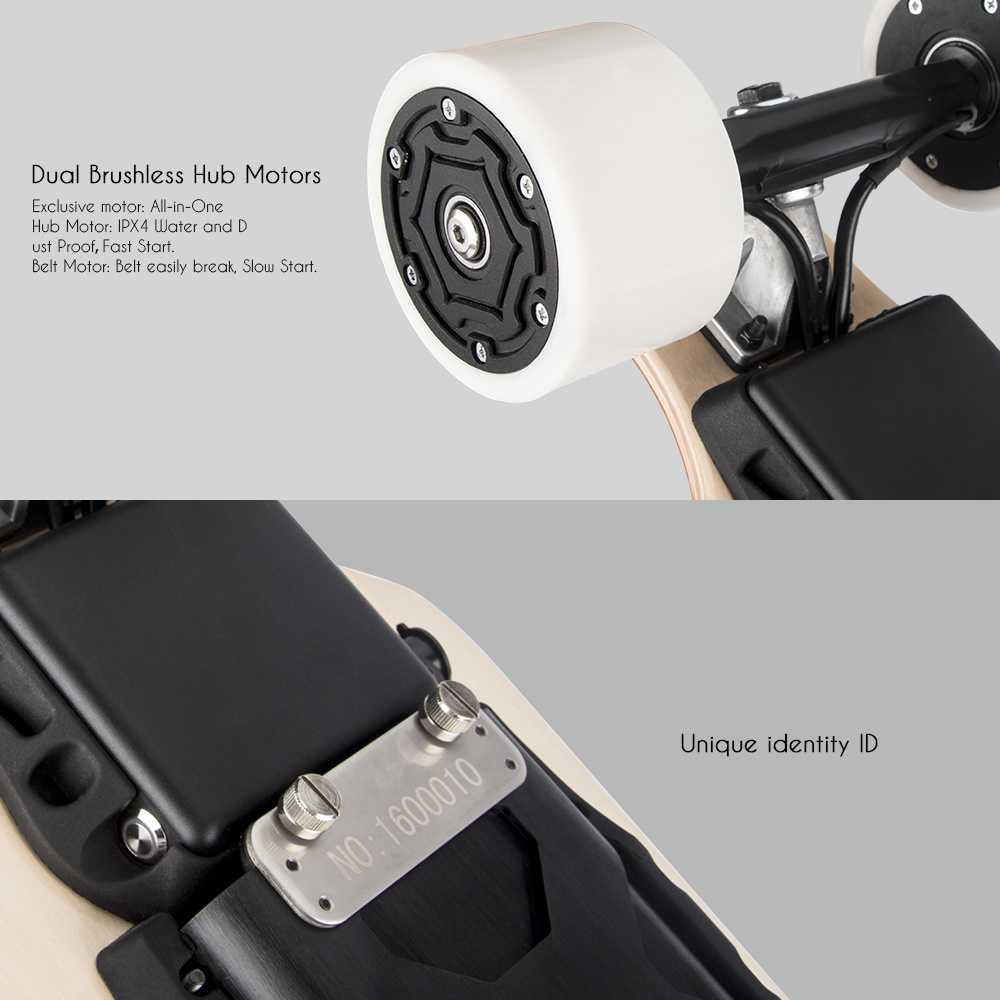 Germany USA Warehouse Koowheel Longboard Dual Motor Electric Skateboard
