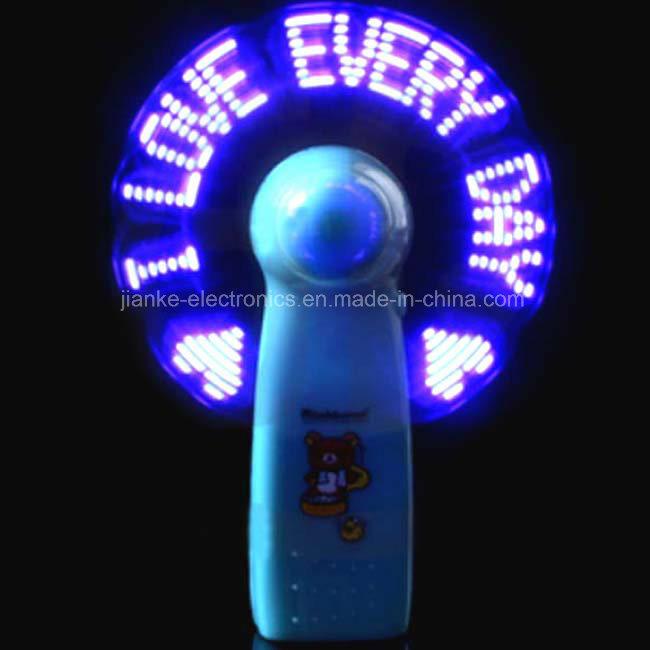 Promotional Flashing Light LED Mini Fan with Logo Printed (3509)