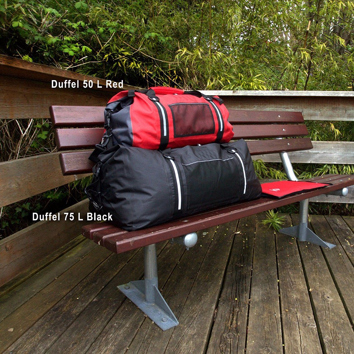75 L Black 100% Waterproof Duffel Bag