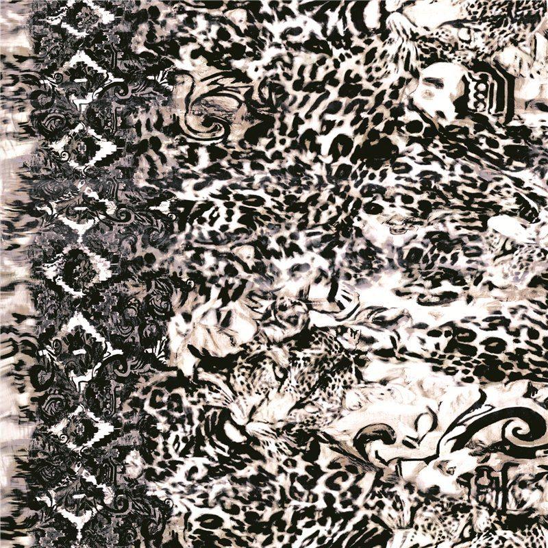 Wool Plaid Printed Wool Fabric (KQC-040)