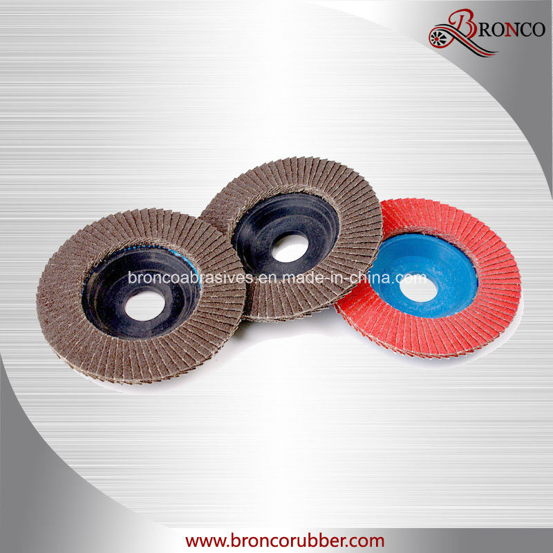 Aluminum Oxide Flap Disc with Trimmable Backing