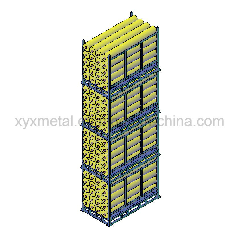 Stackable Storage Rack Textile Industrial Folding Stillage for Fabric Rolls