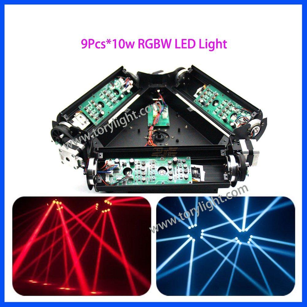 LED Beam 9PCS*10W RGBW Spider Moving Head Light