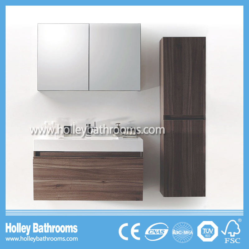 The Latest Popular and Modern Wood MDF Large Space Bathroom Furniture (BF142D)