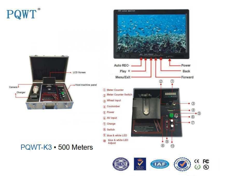500m Deep Petroleum Under Well Inspection Video Camera