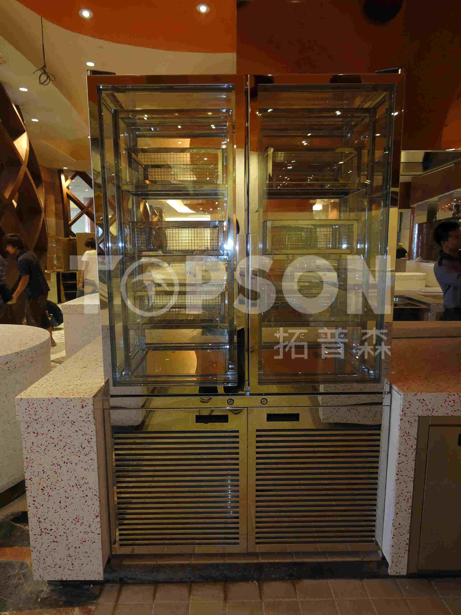 201 / 304 / 316 Stainless Steel Furniture Table Showcase Cabinet Fabrication with Color Coating