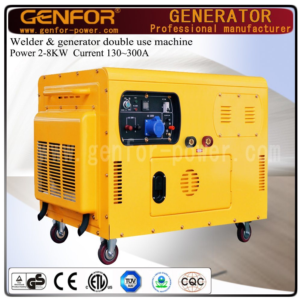 300A 10kw Welding Generating Double-Use Machine with Brush or Brushless Alternator