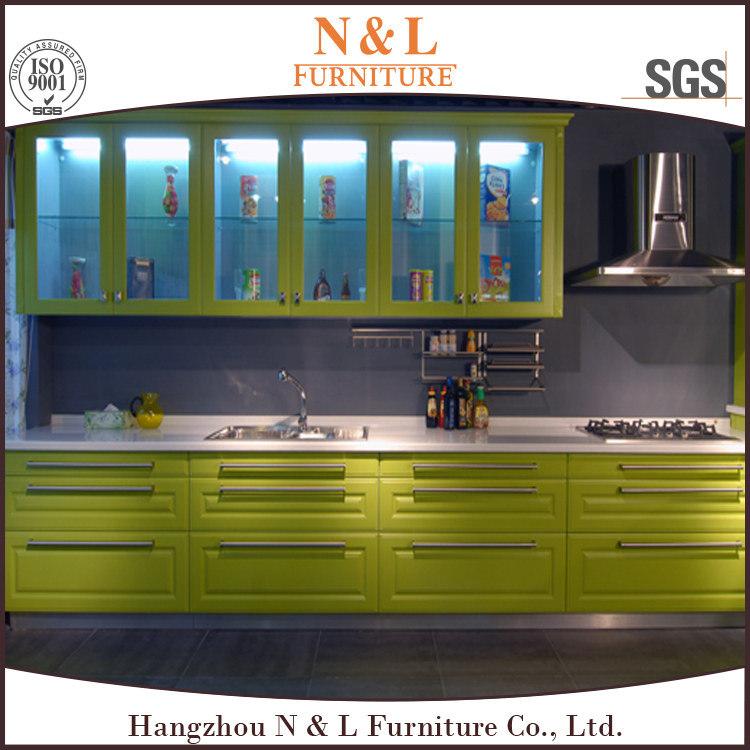 Beech Wood Modern Kitchen Cabinet with Custom Design