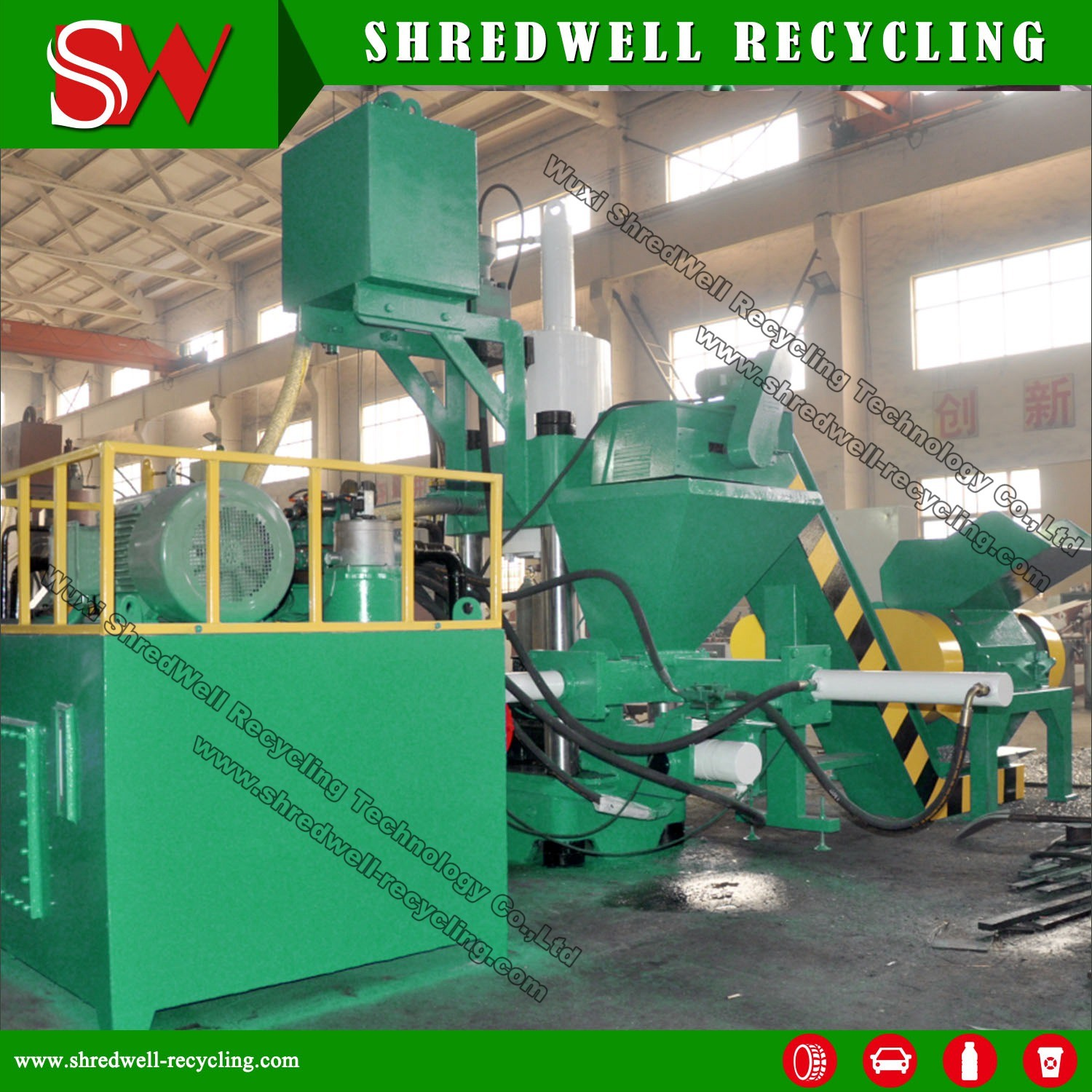 Hydraulic Scrap Metal Sawdust/Turning/Chips Briquette Press