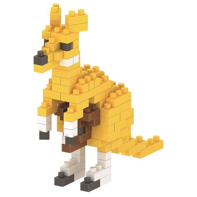 14889120-Micro Block Kit Animal Series Blocks Set Creative Educational DIY Toy 100PCS - Kangaroo