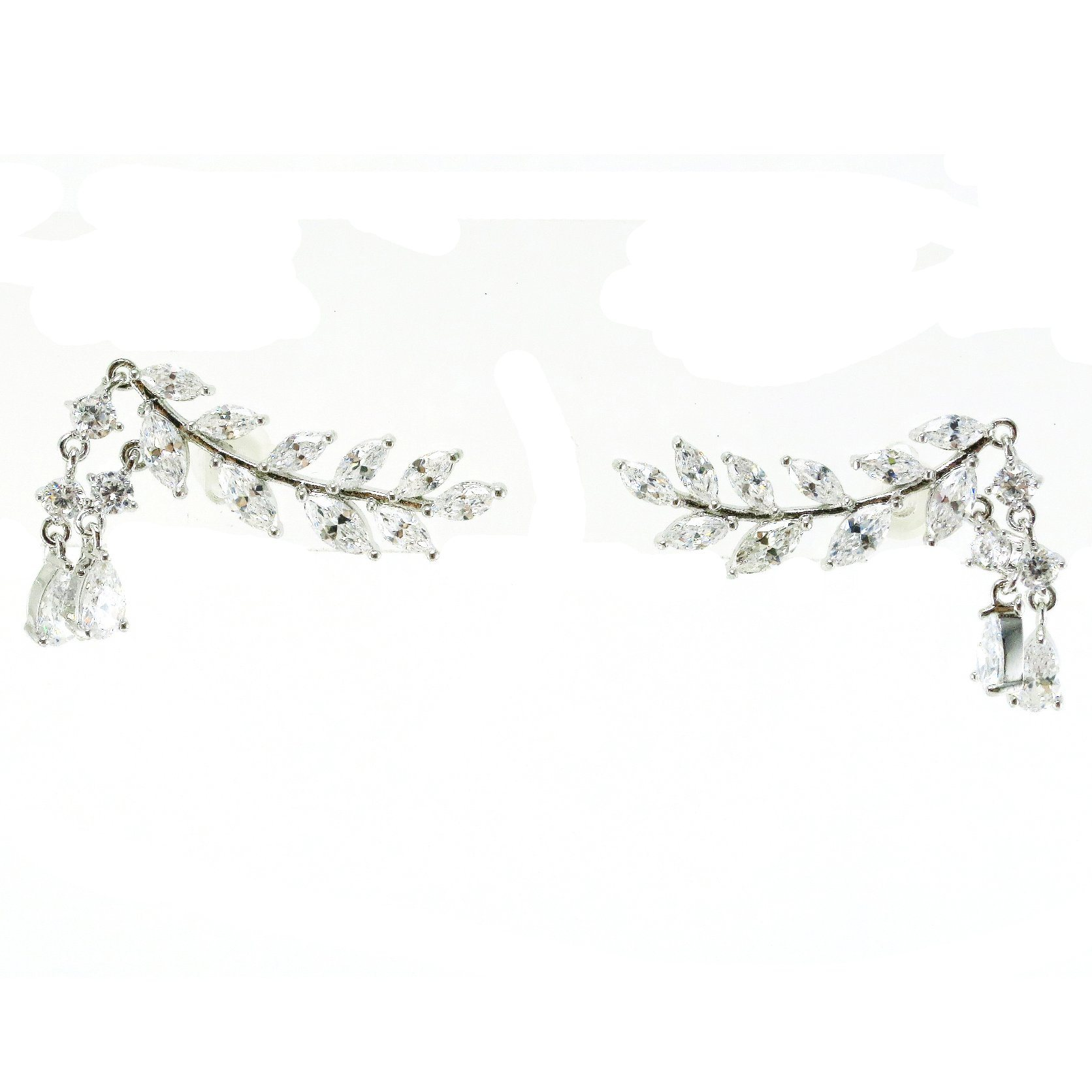 Wholesale Price Women Unique Rhinestone Statement Earring with Chandelier Pearl (E6636)