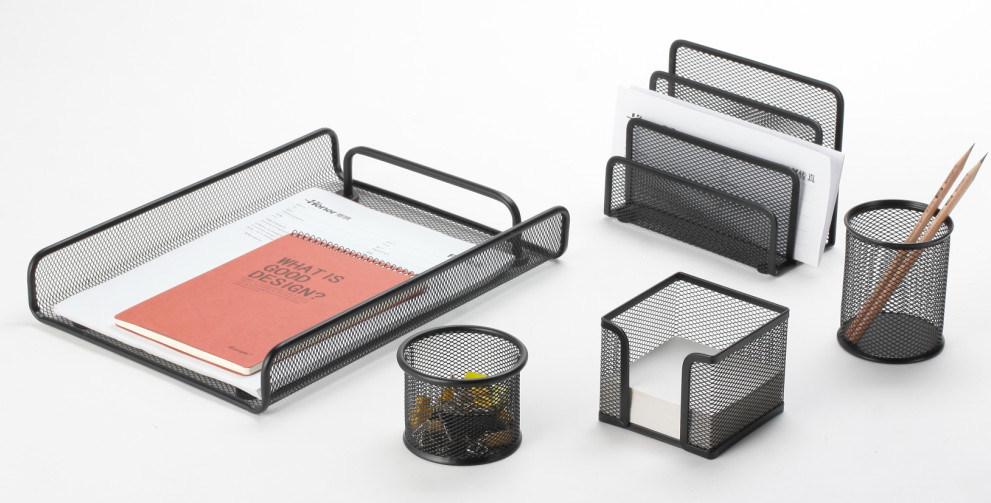 Desk Accessories Set/ Metal Mesh Stationery Office Set/ Office Desk Accessories