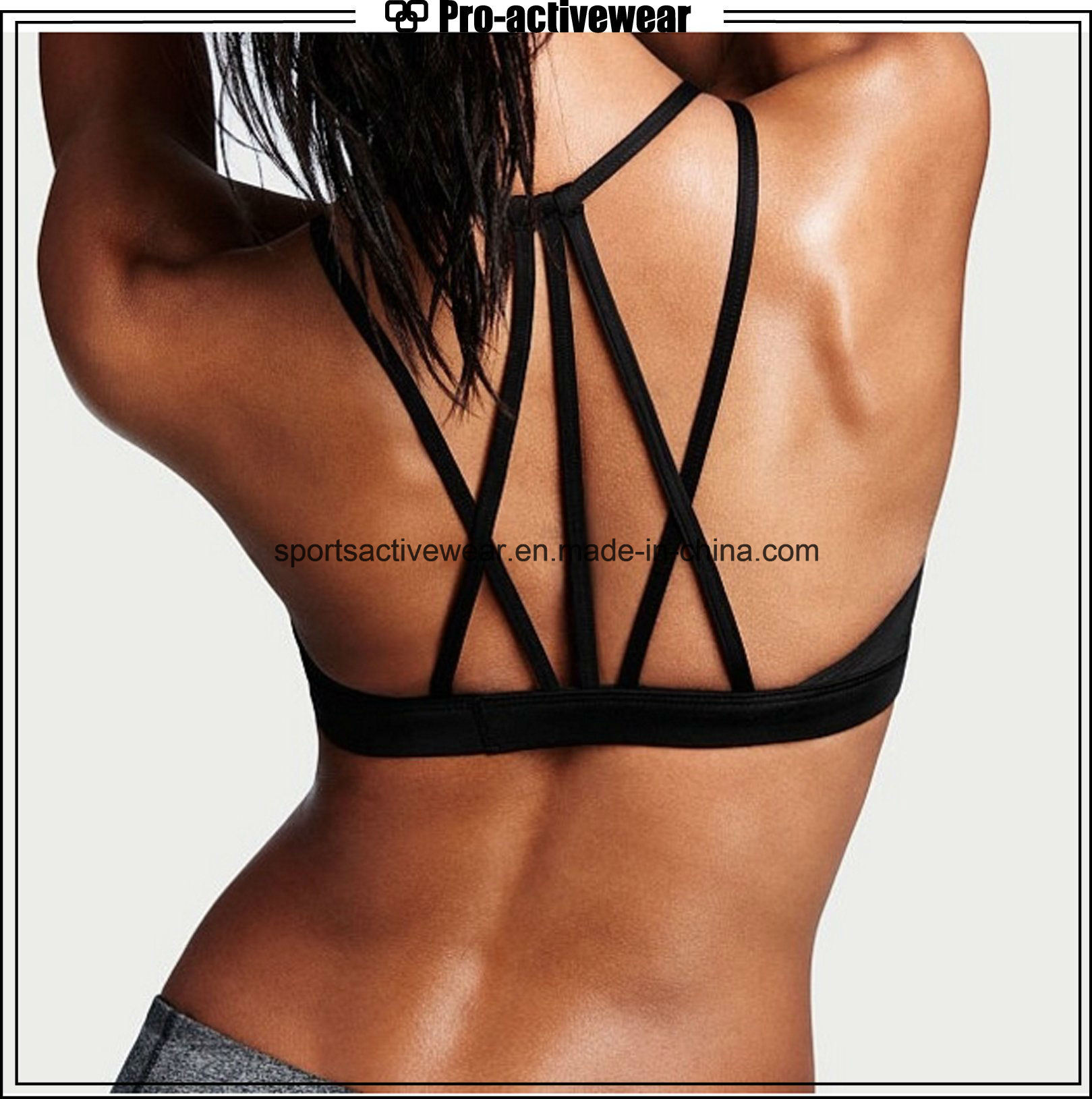 OEM Fashionable Strappy Sports Yoga Bra