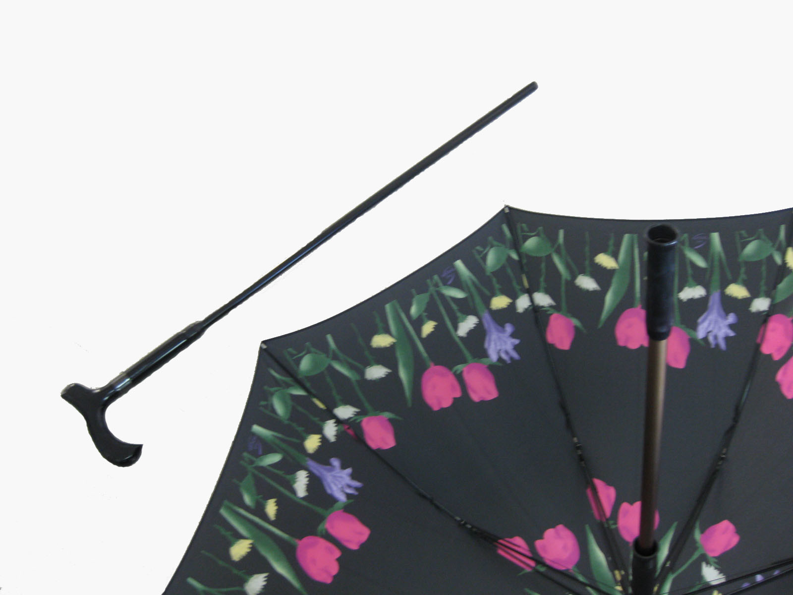 Manual Open Crutch Walking Stick Umbrella (SU014)