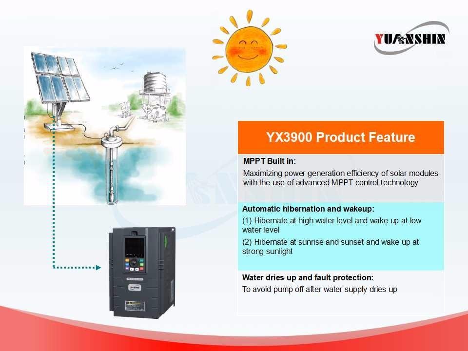 Yx3900 PV Pump Inverter/3 Phase 380V Output Motor Drive