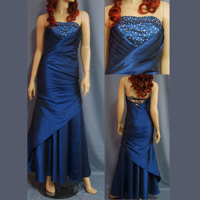 Lovely Short Bead Strapless Bridesmaid Dresses