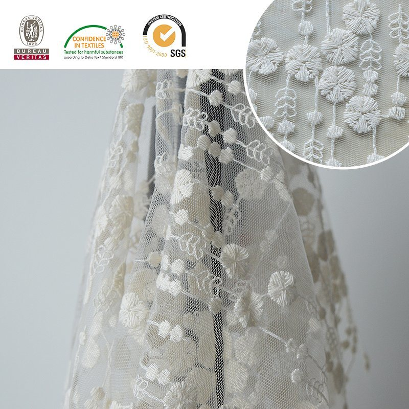 Mesh Delicate Lace Fabric, Fashion Design for Wedding and Daily Dress E30018