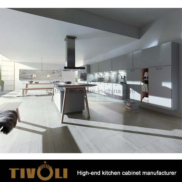 Pre Assembled Kitchen Cabinets with Clean High Gloss Painting design Tivo-0135h