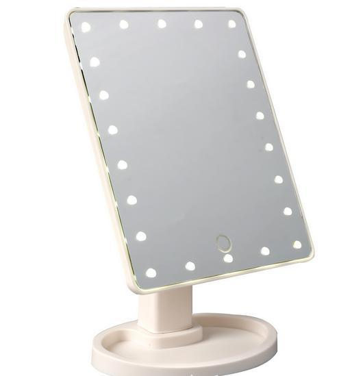 22 LED Makeup Mirror Tabletop Lighted Cosmetic Vanity Mirrors