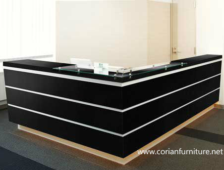 Corian Acrylic Solid Surface Furniture Carved Reception Desk