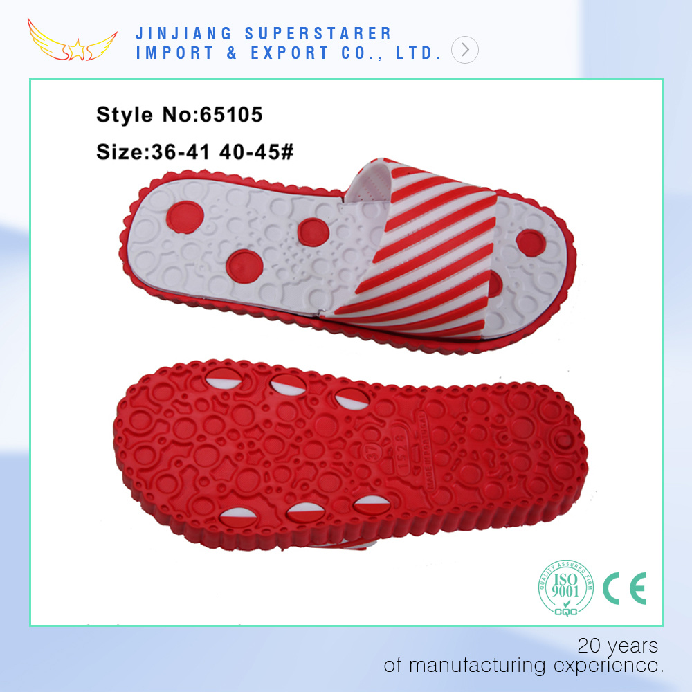 New Arrival PVC Upper Flower Ladies Girls EVA Slippers