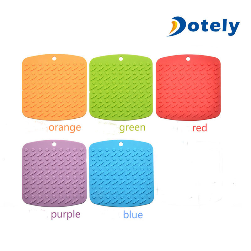Square Silicone Hot Pads For Kitchen Table Mats