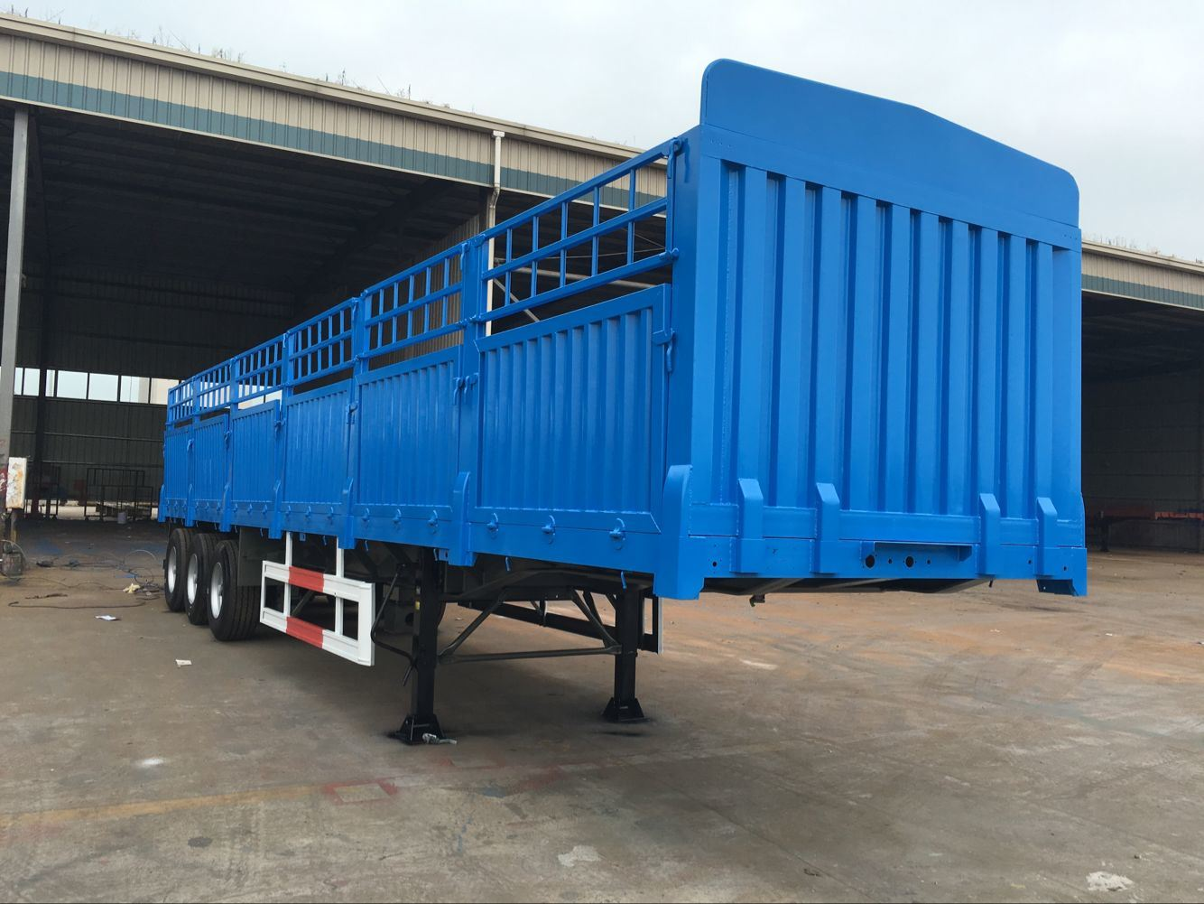 2 Axle 40 Ton Storehouse Semi Trailer / Stake Cargo Box Semi-Trailer