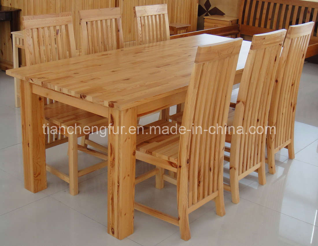 China Pine Dining Table & 6 Chairs (TC8118) - China Pine ...