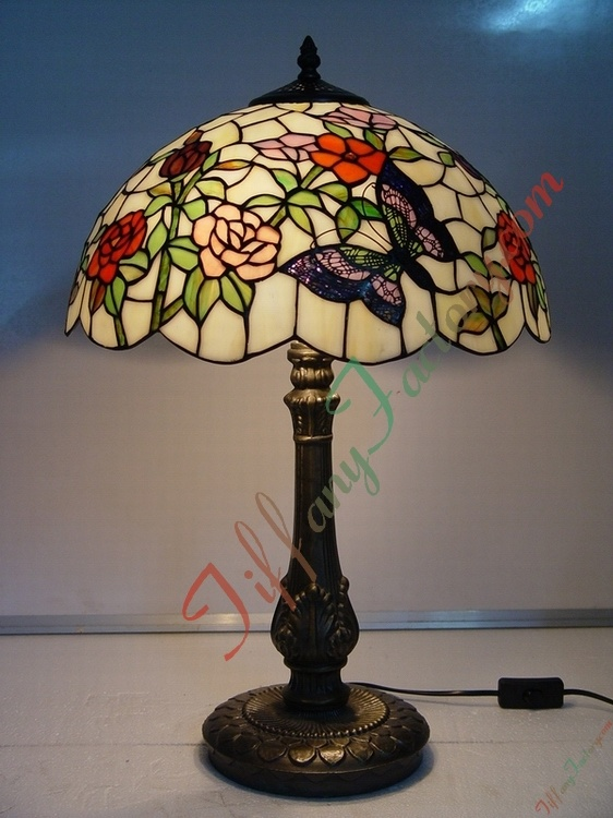 china tiffany table lamp butterfly and flower china tiffany table. Black Bedroom Furniture Sets. Home Design Ideas