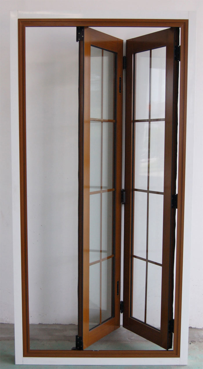 Wooden Folding Doors : China wood grain folding door cs ad aluminum